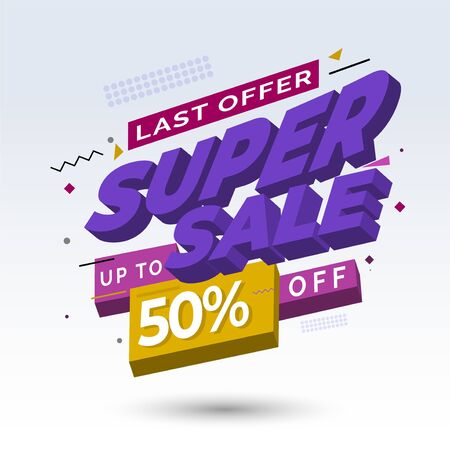 super sale header or title promotion product or services, You can make a good and attractive promotion with this design