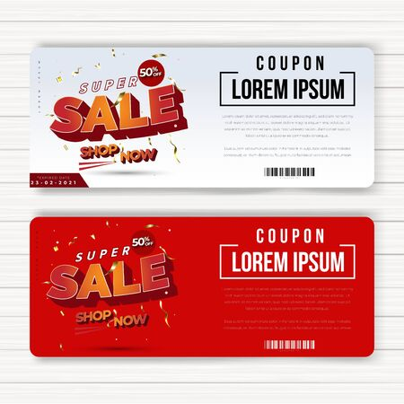 coupon promotion product or services, last offer big sale discount, anywhere, seller banner promotion, every special moments, can used banner poster social media post and more, colorful Illusztráció