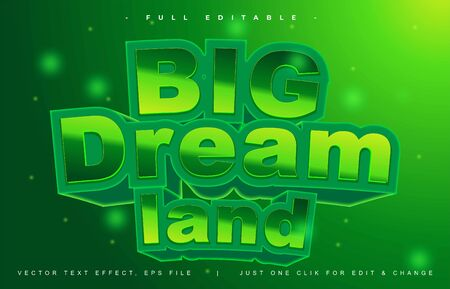 Big Dream Fantasy text effect design editable vector, light effect theme, bold and modern style and elegant, everything you can easy changed