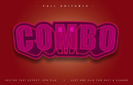 Combo text effect design editable vector, light effect theme, bold and modern style and elegant, everything you can easy changed