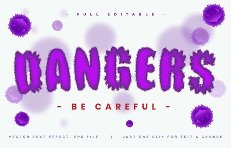 Dangers text effect design editable vector, light effect theme, bold and modern style and elegant, everything you can easy changed