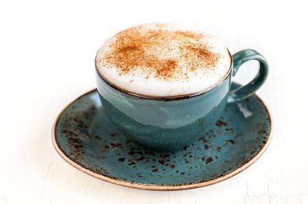 kopje koffie latte of cappuccino Stockfoto