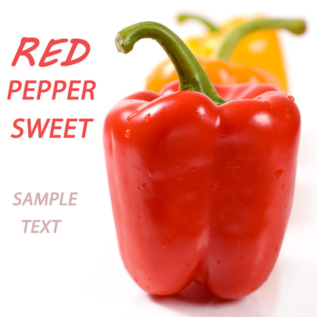 sample text: Red swee tpepper (with sample text) Stock Photo