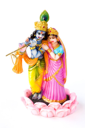 Hindu God Krishna and Hindu Goddesses Radha Stock Photo