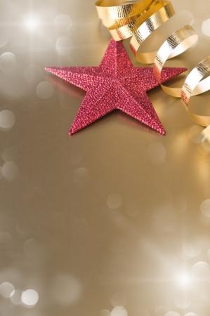 hristmas: �hristmas composition with star and ribon Stock Photo