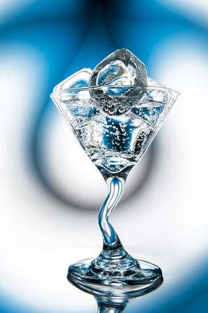 Glass of mineral water with ice (cocktail) Stock Photo - 22994907