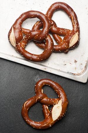 pretzel: Fresh baked pretzel