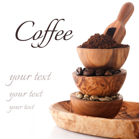 unroasted: various kind of coffee Stock Photo