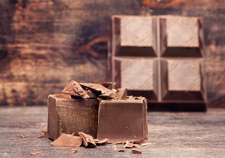 chocolate background: dark chocolate