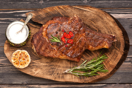 Meat Ribeye steak. Top view Stockfoto