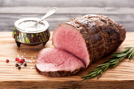 roast beef: Roast beef with rosemary
