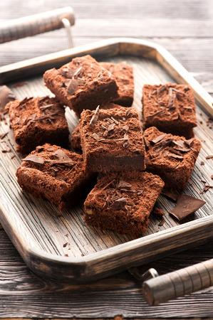 Cake csokoládés brownie Stock fotó
