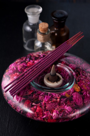 incense sticks: Incense sticks and essential oils. aromatherapy