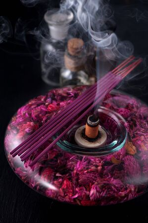 air diffuser: Incense sticks and essential oils. aromatherapy