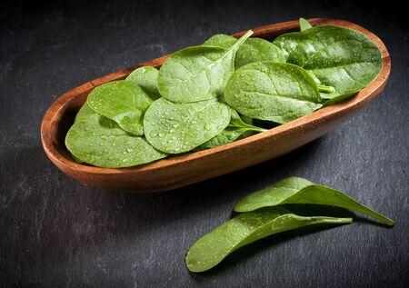 fresh spinach: fresh spinach