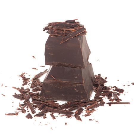 donkere chocolade Stockfoto