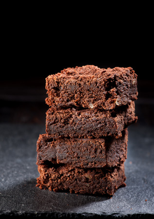 brownies: Chocolate cake brownies Stock Photo