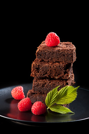 brownies: brownies cake Stock Photo