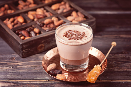 pan tropical: Cocoa drink from grated cocoa. Bio organic product