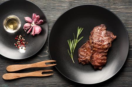 Ribeye steak entrecote. bovenaanzicht