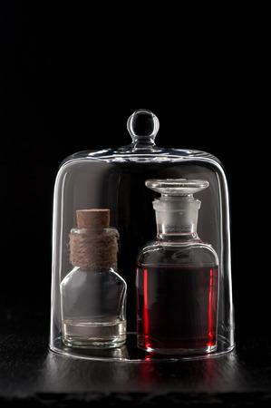 phial: poison inmedical bottles or massage oil