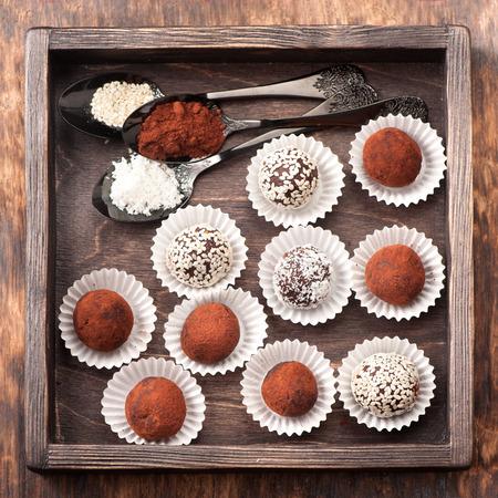Assortiment chocolade truffels