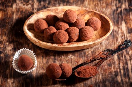 Chocolade truffels, horizontaal