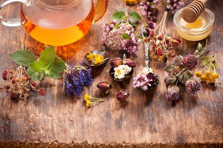 herbal tea: Herbal tea with honey