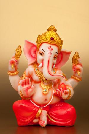 ganesh: Estatua de un dios hind�, Ganesha Foto de archivo