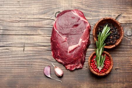 ribeye: Ribeye steak uncooked