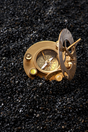 Old Compass sundial. Travel geography navigation concept background Stockfoto