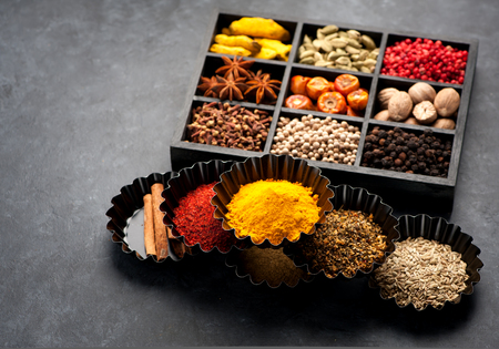 seasonings: spices and seasonings Stock Photo
