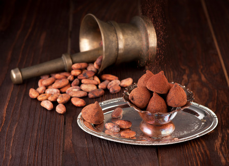 cocoa beans: Chocolate truffles and cocoa beans