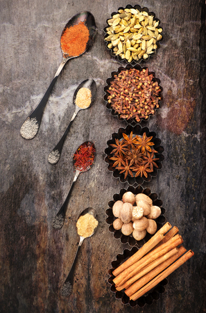 Spices for baking cookies or cake Stockfoto