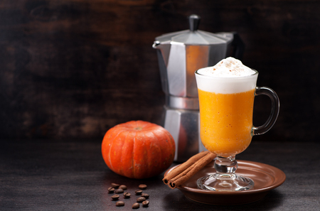 Pumpkin smoothie spice latte.