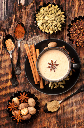 chai: Indian masala chai with spices.