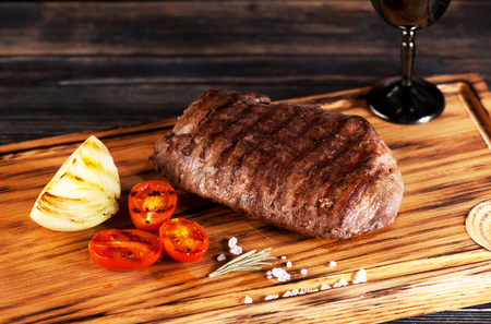 the medium: medium rare grilled Steak Ribeye