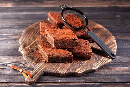 Chocolate brownie cake Banco de Imagens
