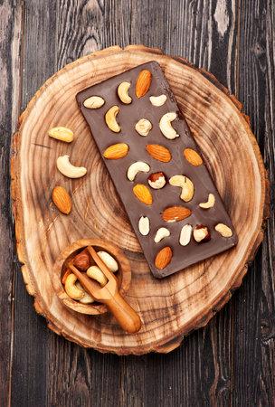 Handmade chocolate with nuts