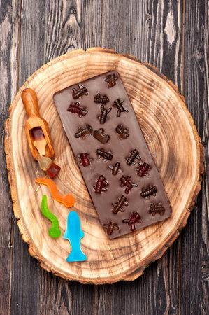 Handmade chocolate with fruit sweets