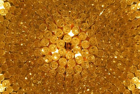 Gold texture. Element of design. photo