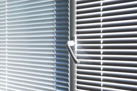 jalousie: Window with jalousie. Element of design. Stock Photo