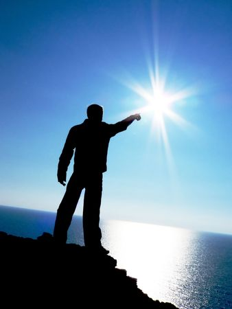 Touch to the sun. Element of design. Stock Photo - 6530222