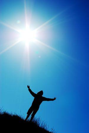 Worship to sun. Element of design. Stock Photo - 6530224