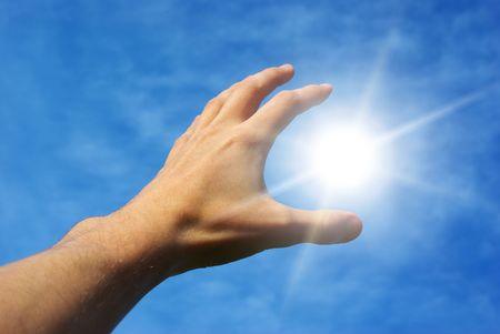 Take the sun. Conceptual design. Stock Photo - 7555665