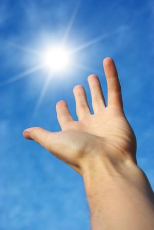 Take the sun. Conceptual design. Stock Photo - 7555703