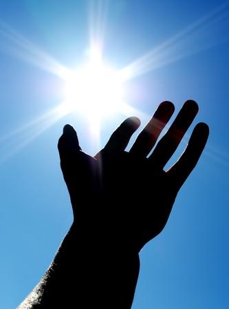 Sun on the palm. Conceptual design.