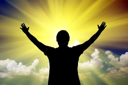 worship hands: Worship to God. Element of design.