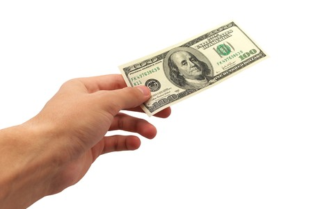 give money: Give money. Element of design. Stock Photo
