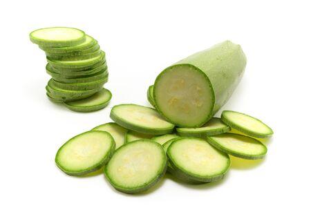 Vegetable marrow. Isolated object. photo